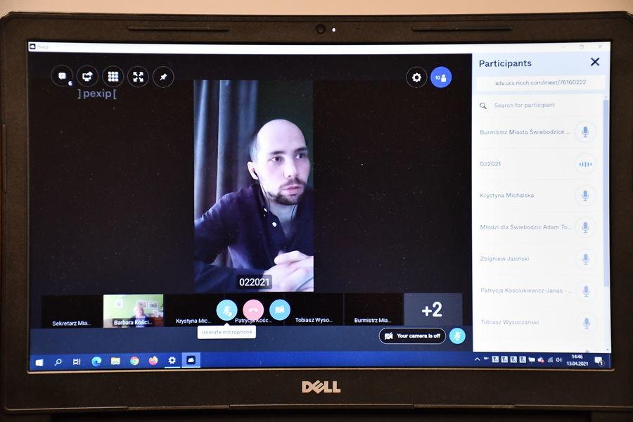 Zebranie online Przewodniczący GRDPP Karol Marcyniuk
