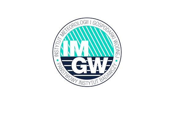 Okrągłe zielono-czarne logo IMGW