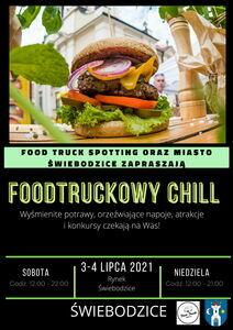 plakat promujący Foodtruckowy Chill