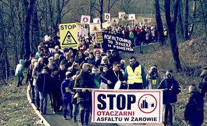 """Marsz protestacyjny """"NIE dla asfaltowni w Żarowie"""""""