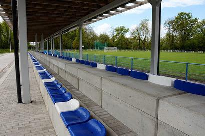 Zakończyła się budowa trybun na stadionie sportowym