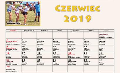 Kalendarz imprez – czerwiec 2019 r.