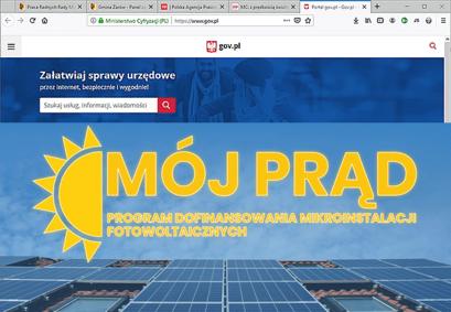"""""""Mój prąd"""" – nowa e-usługa dla na portalu gov.pl"""