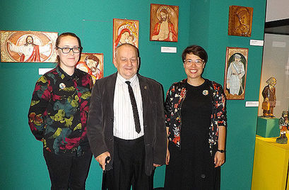 Prace Czesława Rzeczyckiego na wystawie w Muzeum Etnograficznym
