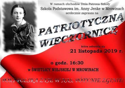 Wieczornica patriotyczna w SP Mrowiny