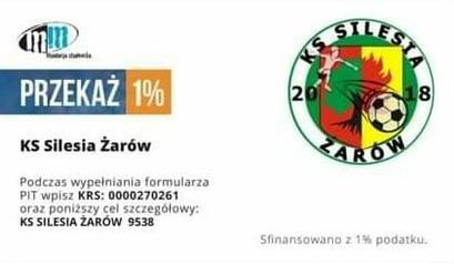 Przekaż 1% z podatku dla KS Silesia Żarów