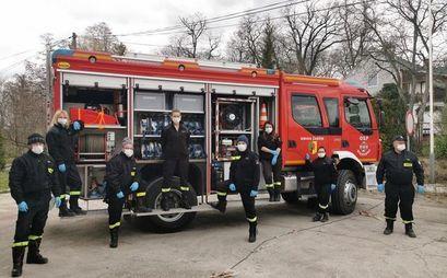 Strażacy ochotnicy pomagają w walce z koronawirusem