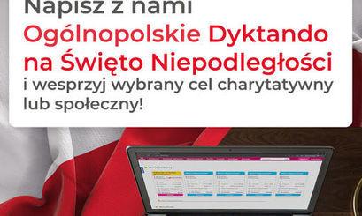 I Ogólnopolskie Dyktando na Święto Niepodległości z akcją charytatywną