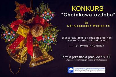 """Konkurs dla Kół Gospodyń Wiejskich """"Choinkowa ozdoba"""""""