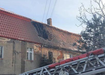 Pożar poddasza w Mikoszowej