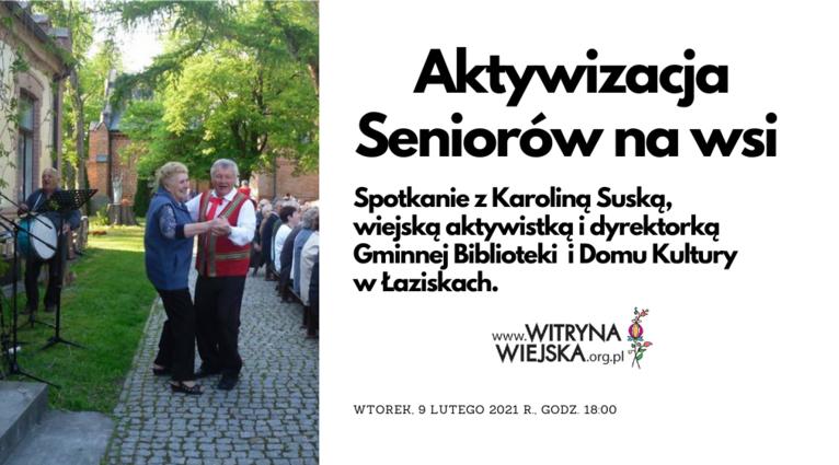 """Webinar """"Aktywizacja seniorów na wsi"""""""