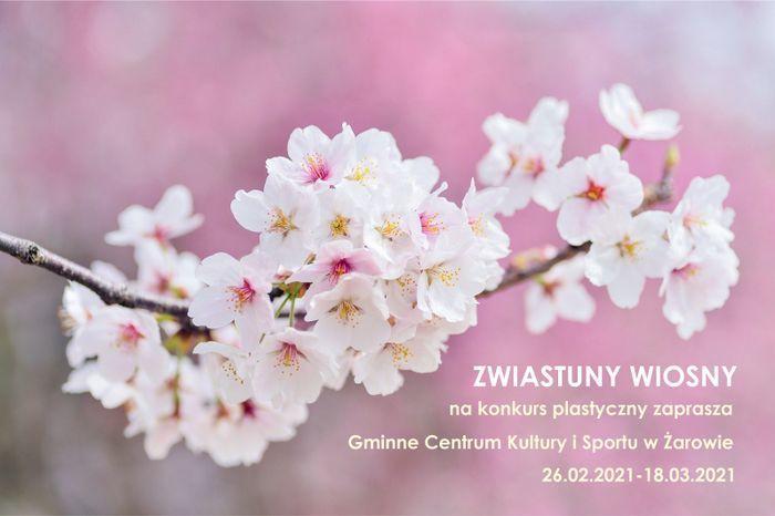 """Konkurs plastyczny """"Zwiastuny wiosny"""""""