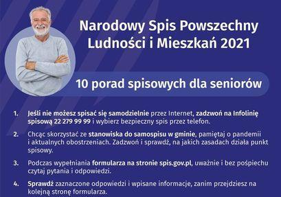 Narodowy Spis Powszechny bezpieczny dla seniorów
