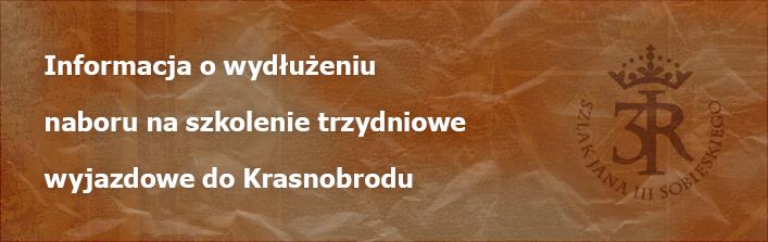 Informacja o wydłużeniu naboru na szkolenie trzydniowe wyjazdowe do Krasnobrodu