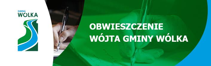 Obwieszczenie Wójta Gminy Wólka z dn. 5 września 2014 r.