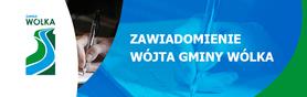 Zawiadomienie Wójta Gminy Wólka z dn. 20 października 2014 r.