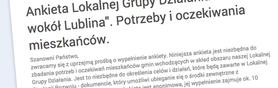 Ankieta LGD - Kraina wokół Lublina - 2014-2020