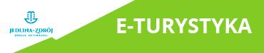 Logo Jedliny Zdrój + graficzny przycisk do przejścia do eturystyka.jedlinazdroj.eu