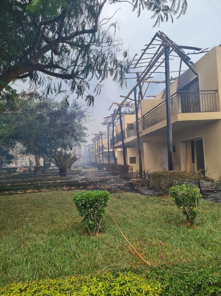 pożar hoteli na Zanzibarze