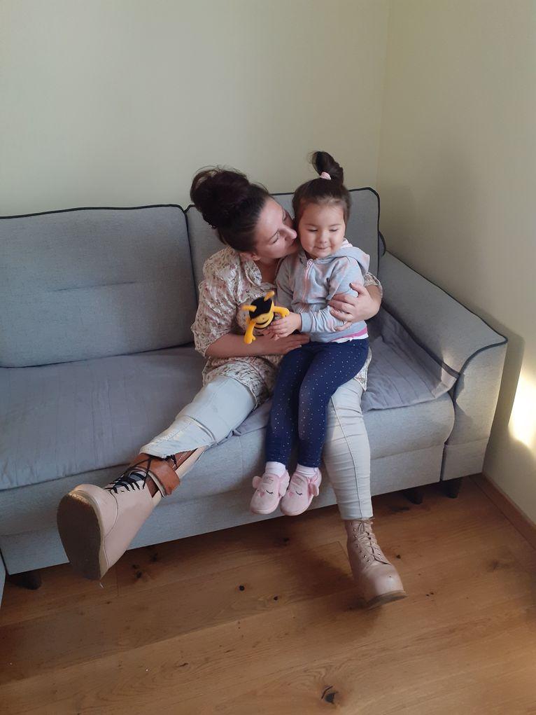 Karolina z córką