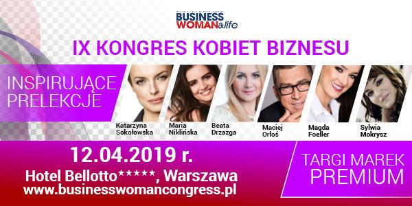 """IX POLISH BUSINESSWOMEN CONGRESS to jedyne w swoim rodzaju seminarium, podczas którego wystąpią uznani mówcy, wielkie osobowości polskiej sceny biznesowej i w jednym miejscu spotka się ponad 350 przedsiębiorczych osób, żądnych wiedzy, kontaktów, szukających nowych możliwości, odbędą się inspirujące prelekcje a w części wystawienniczej będą miały miejsce targi z produktami i usługami dla biznesu.  Hasłem przewodnim wydarzenia jest Transformacja – nowe podejście do biznesu. IX POLISH BUSINESSWOMEN CONGRESS to panele dyskusyjne i eksperckie, dedykowane dla osób przedsiębiorczych. Eksperci i uznani mówcy – autorytety w swoich dziedzinach, wygłoszą prelekcje z obszarów: brandingu, negocjacji, motywacji, budowania skutecznych zespołów, prawa i zarządzania płynnością finansową. Uczestnicy kongresu dowiedzą się m.in.: jak skutecznie budować markę własną i przedsiębiorstwa, jak efektywnie rozwijać swój potencjał, jak sprzedawać, aby zwiększyć zyski firmy i zdobywać lojalnych klientów. Wielkie osobowości polskiej sceny biznesowej przedstawią swoje case study. IX POLISH BUSINESSWOMEN CONGRESS to najstarszy kongres kobiet biznesu w Polsce, który na stałe wpisał się w plan biznesowych wydarzeń. Strona kongresu znajduje się pod linkiem www.businesswomancongress.pl Nie odkładaj decyzji na później, zrób sobie """"biznesowy"""" prezent, który jest olbrzymim krokiem do sukcesu i kliknij tutaj: www.businesswomancongress.pl"""