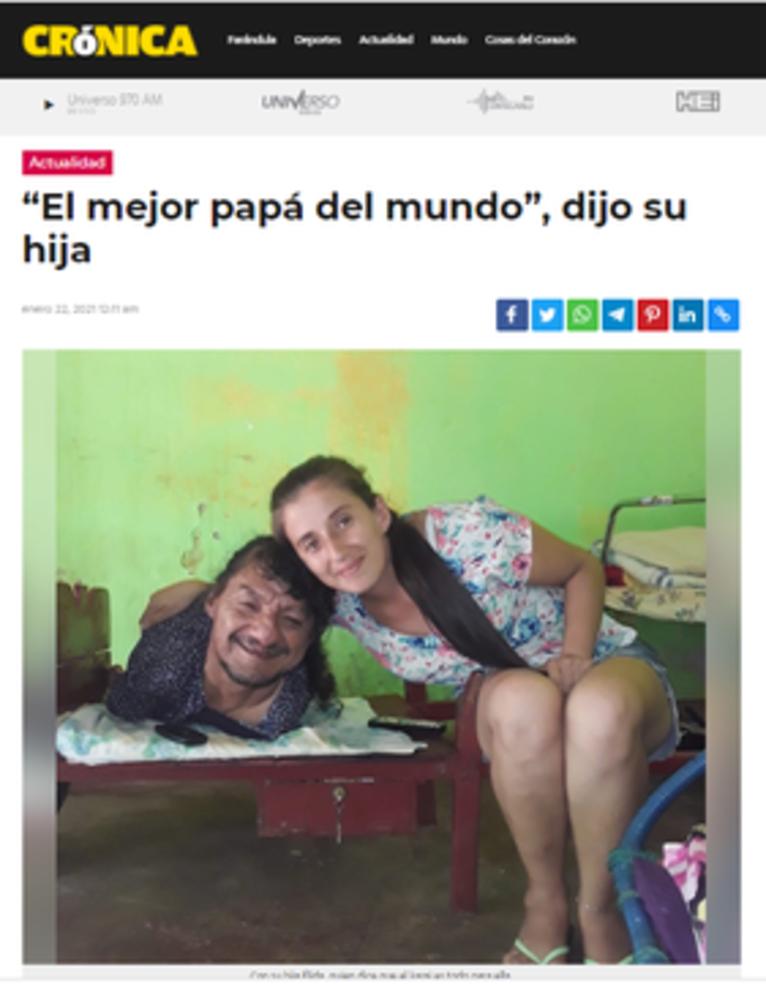Najlepszy ojciec na świecie - powiedziała Elida dla Cronica.