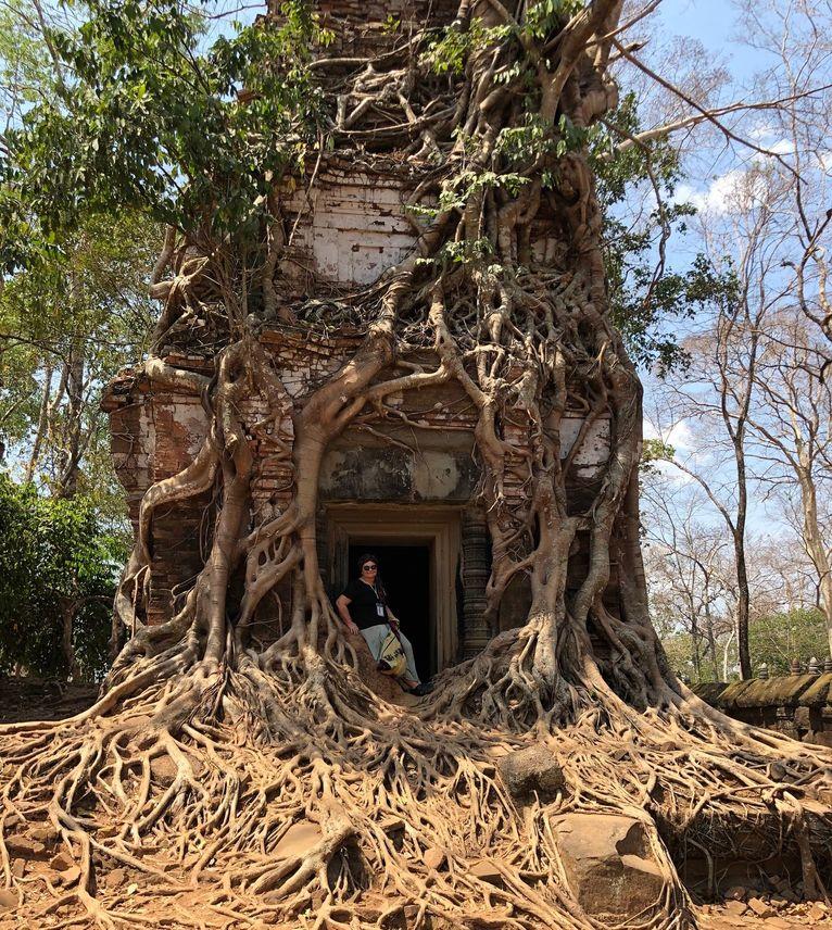 Pustki w świątyni Koh Ker w Kambodży