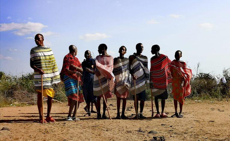 Masajskie tańce.
