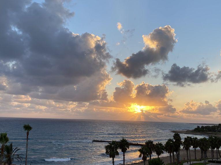 Zachód słońca na Cyprze