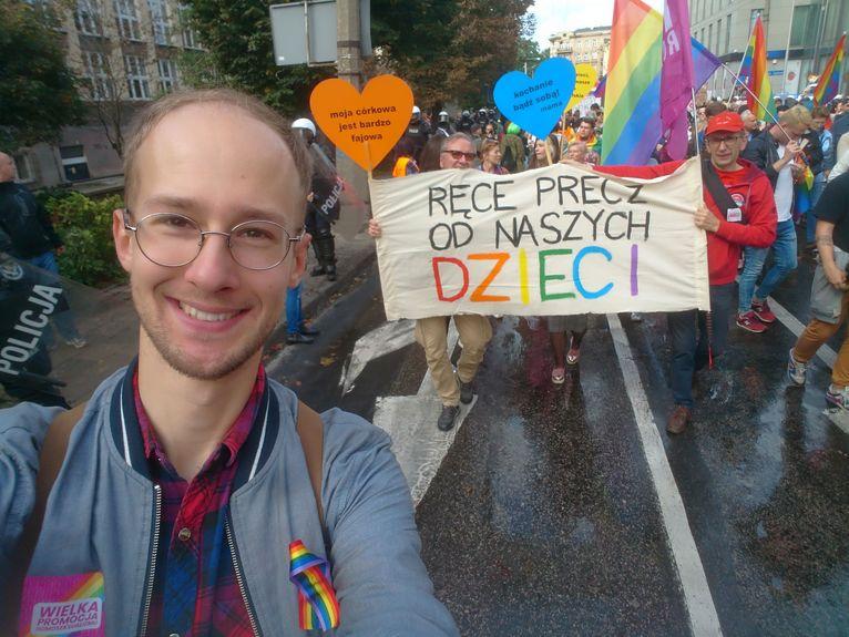 Max na Marszu Równości w Polsce