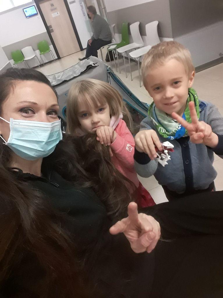Katarzyna z dziećmi