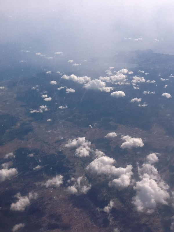 samolot, chmury