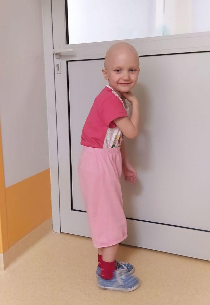 Maja po chemioterapii.