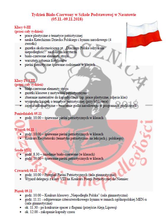 Zaproszenie Do Uczestnictwa W Tygodniu Biało Czerwonym Gmina Niemce