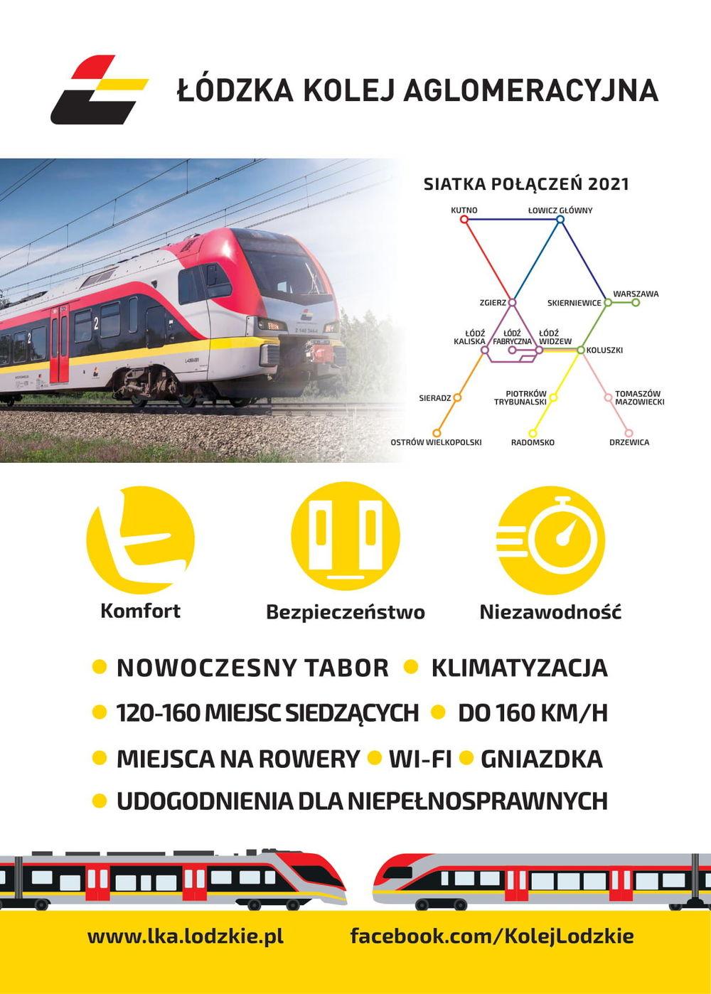 połaczenie kolejowe Łódź - Drzewica-plakat