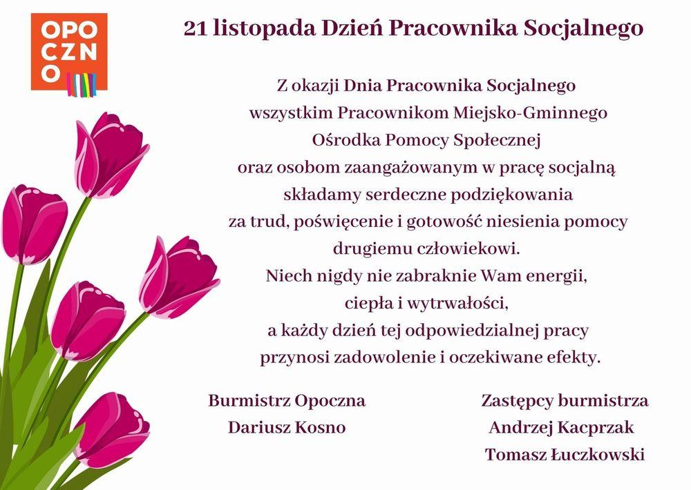 życzenia dzień pracownika socjalnego