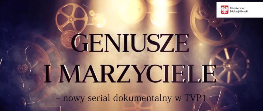 Baner z napisem Geniusze i Marzyciele
