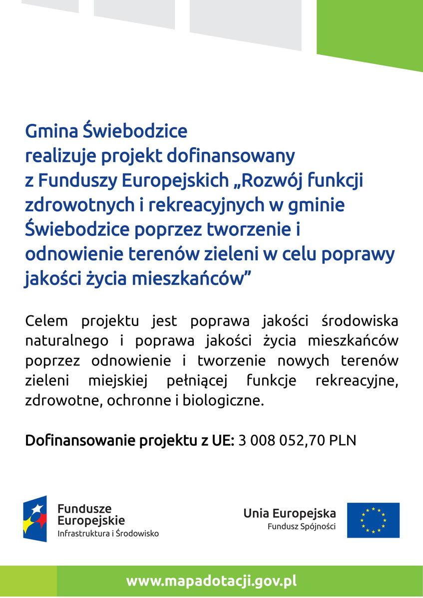 Tablica informacyjna - unijna