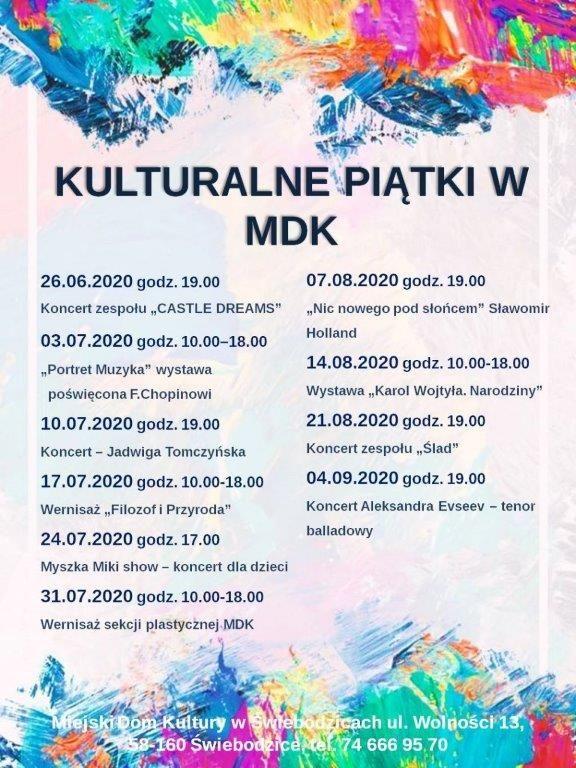 kulturalne piątki w MDK