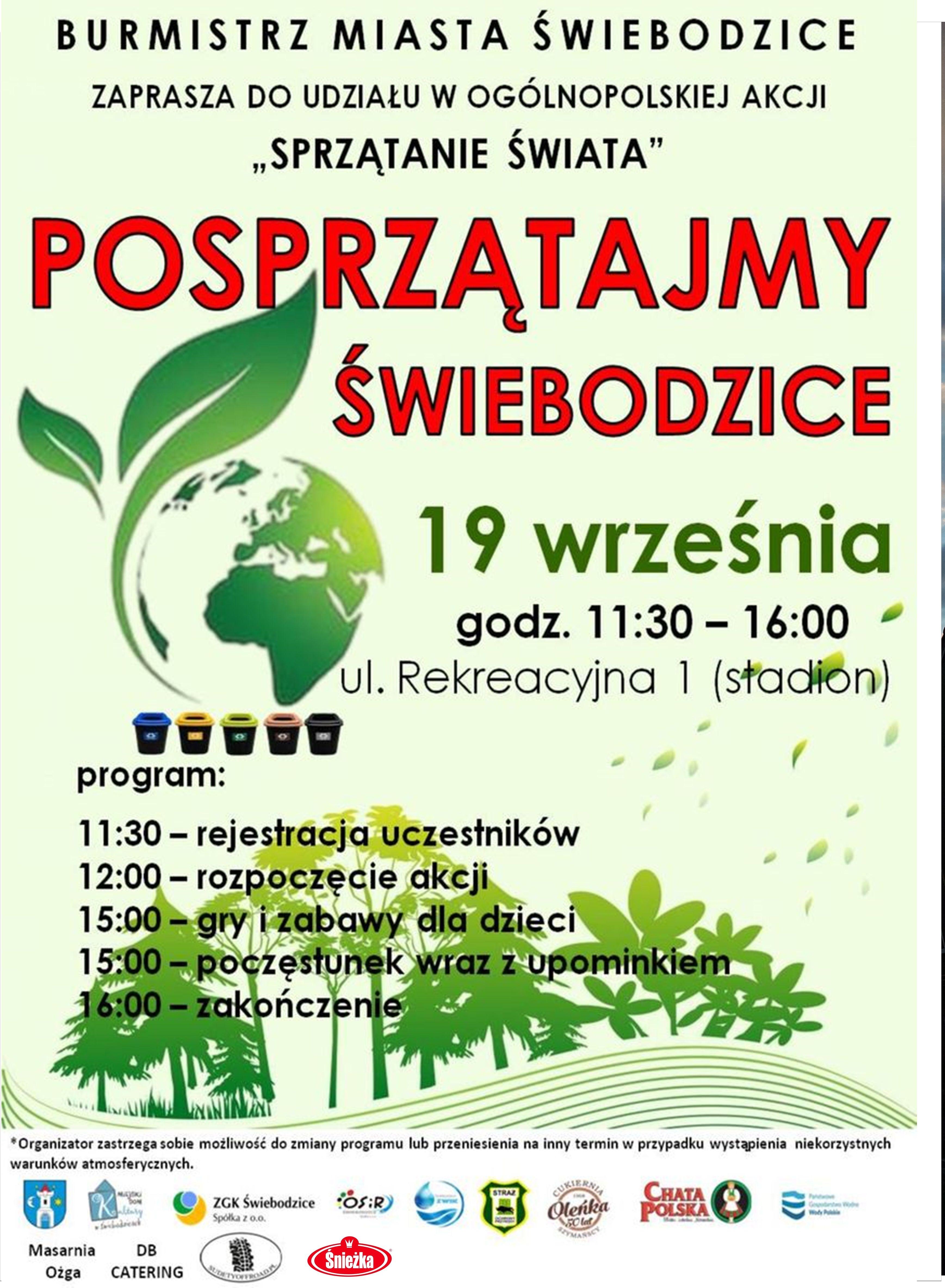 plakat promocyjny sprzątanie Świata