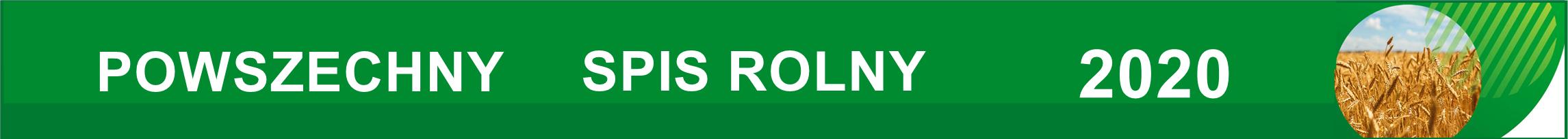 baner poziomy z napisem Powszechny Spis Rolny 2020.