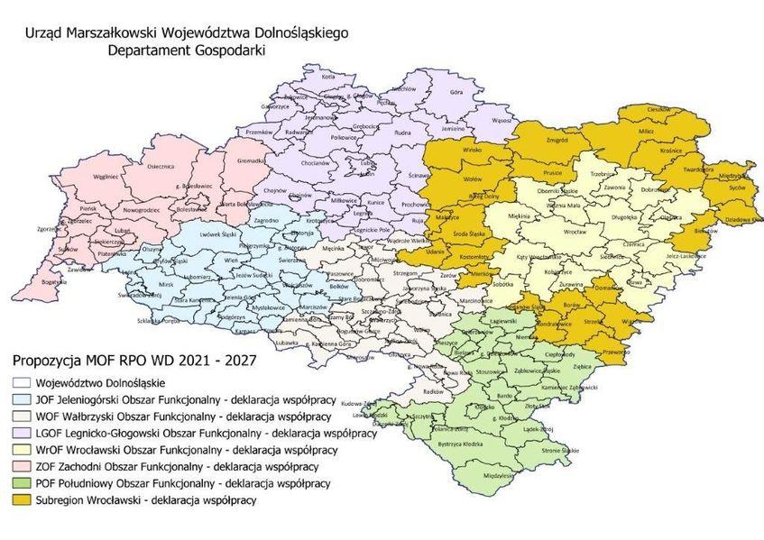 mapa podejścia terytorialnego 2021-2027
