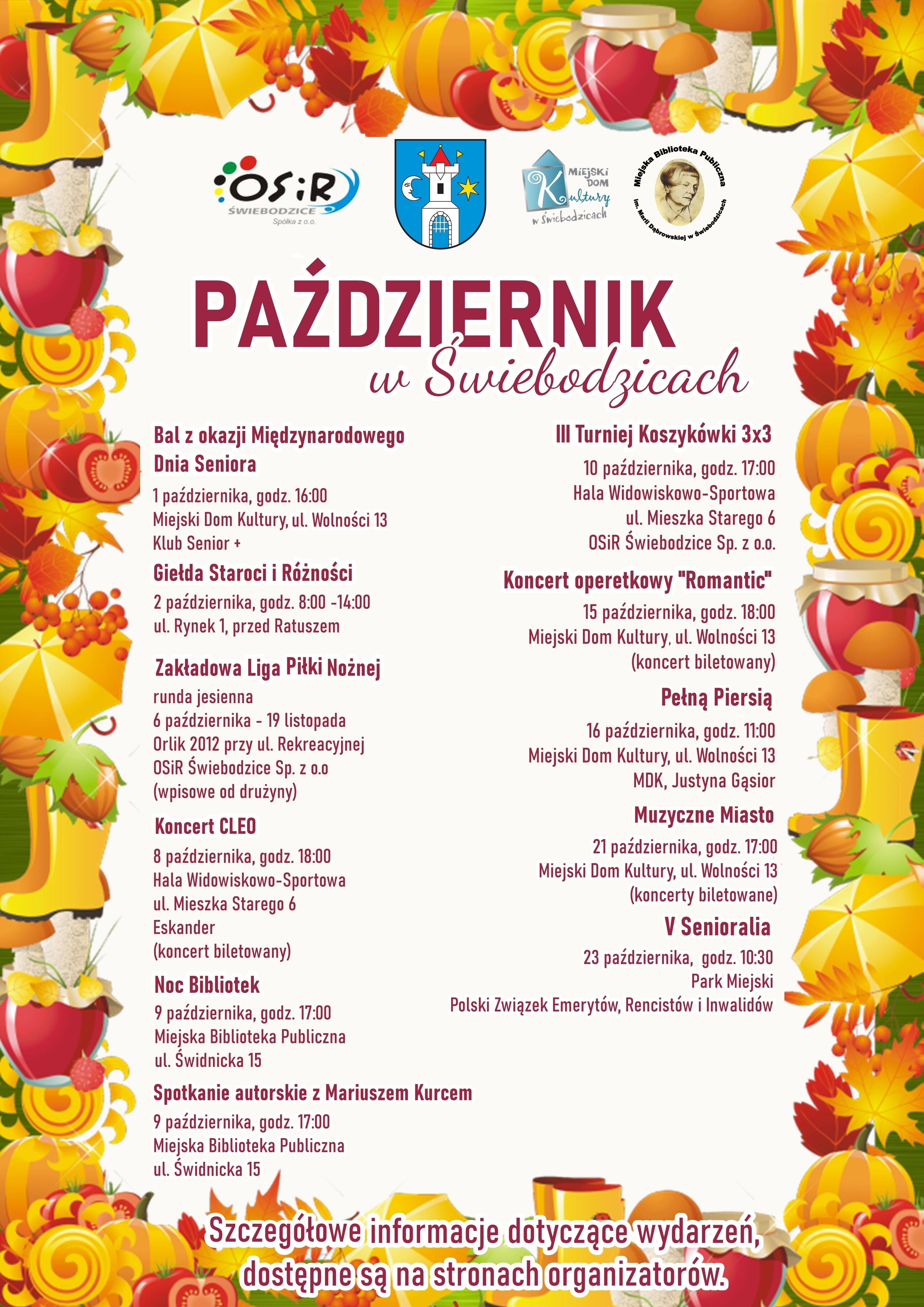 plakat pionowy W jesiennych barwach