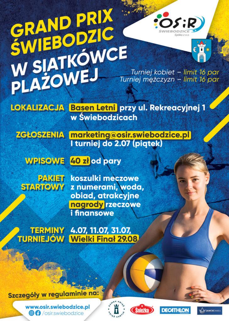 plakat pionowy z programem Grand Prix Świebodzic