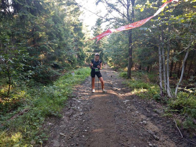 Na zdjęciu Roksana Anusz w trakcie zawodów.