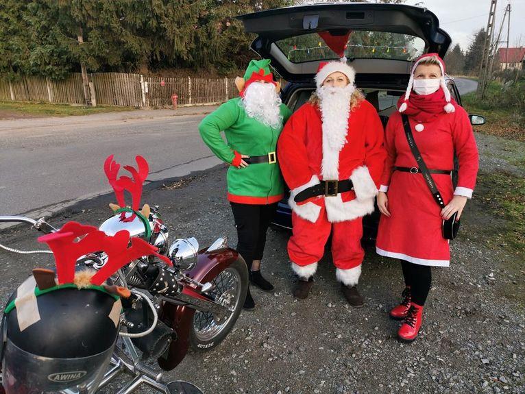 Mikołaj i jego pomocnicy w Przyłęgowie
