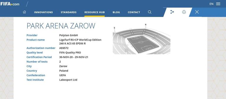 certyfikat FIFA