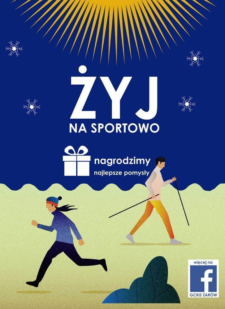 plakat Żyj na sportowo