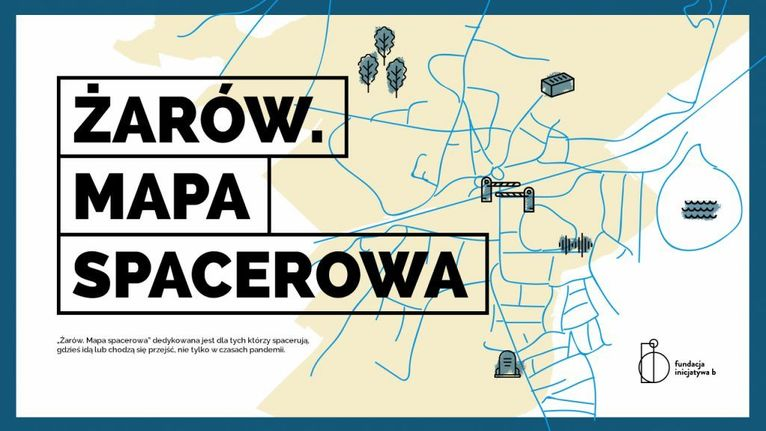 plakat Żarów mapa spacerowa