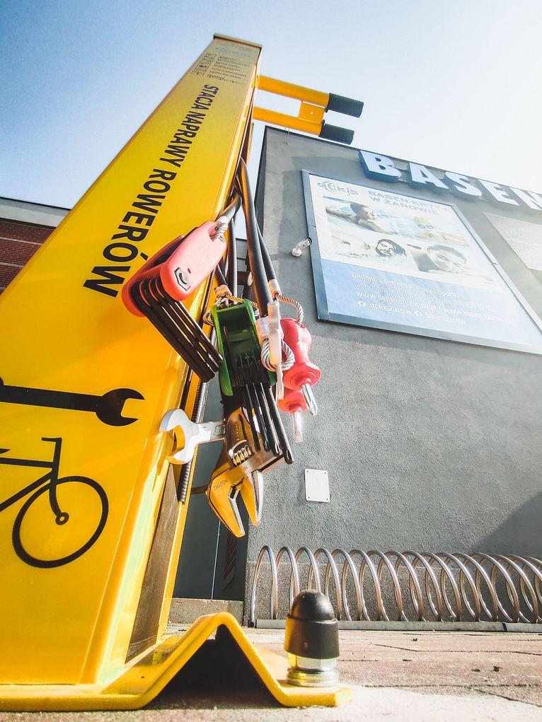 stacja naprawcza do rowerów